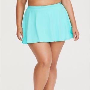Torrid Mint Green Skater High Waist Swim Skirt 3X